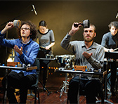Percussionists in Kate  Neal's <em>Semaphore</em>