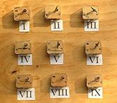 Music boxes in Cor Fuhler's installation <em>Doze(n)</em> (detail).