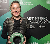 Kate Neal at the 2016 Art Music Awards