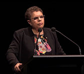 Deborah Cheetham AO delivering the 2019 Peggy Glanville-Hicks Address in October