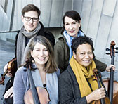 Flinders Quartet: Thibaud Pavlovic-Hobba (violin), Zoe Knighton (cello), Helen Ireland (viola) and Wilma Smith (violin).