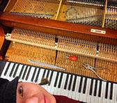 Rae at the piano