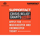 SUPPORT ACT Crisis Relief: MusicKeeper and CrewKeeper, available now!