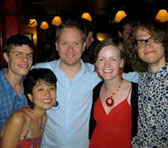 Left to right: David Lang, Annie Hui-Hsin Hsieh, tutor James Ledger, Amy Bastow and Timothy Tate