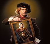 Gary Rowley as Rembrandt