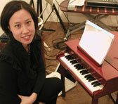 Phyllis Chen performed Andrián Pertout's work for toy piano and tape recently in Tokyo