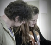 Thomas Green with violinist Sophie Rowell