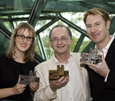 Melbourne Prize winners Natalie Bartsch, David Jones and Benjamin Northey