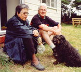 Gillian Whitehead with biographer Noel Sanders