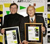 Patrick Thomas and John Hopkins at the Awards ceremony on 3 May 2011