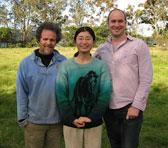 Cliff Wallis and Sayaka Mihara with Damian Barbeler