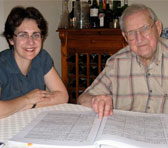 Dr Joanna Drimatis with Robert Hughes AO in Adelaide, April 2007