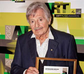 Peter Sculthorpe after the Awards ceremony on 3 April