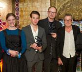 Award-winners Kristin Berardi, Alex Boneham, Peter Knight and Allan Browne - see also larger photo further down