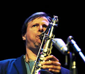 Chris Potter solos during his MIJF concert with JMO. Photo by Claire Cross supplied by MIJF